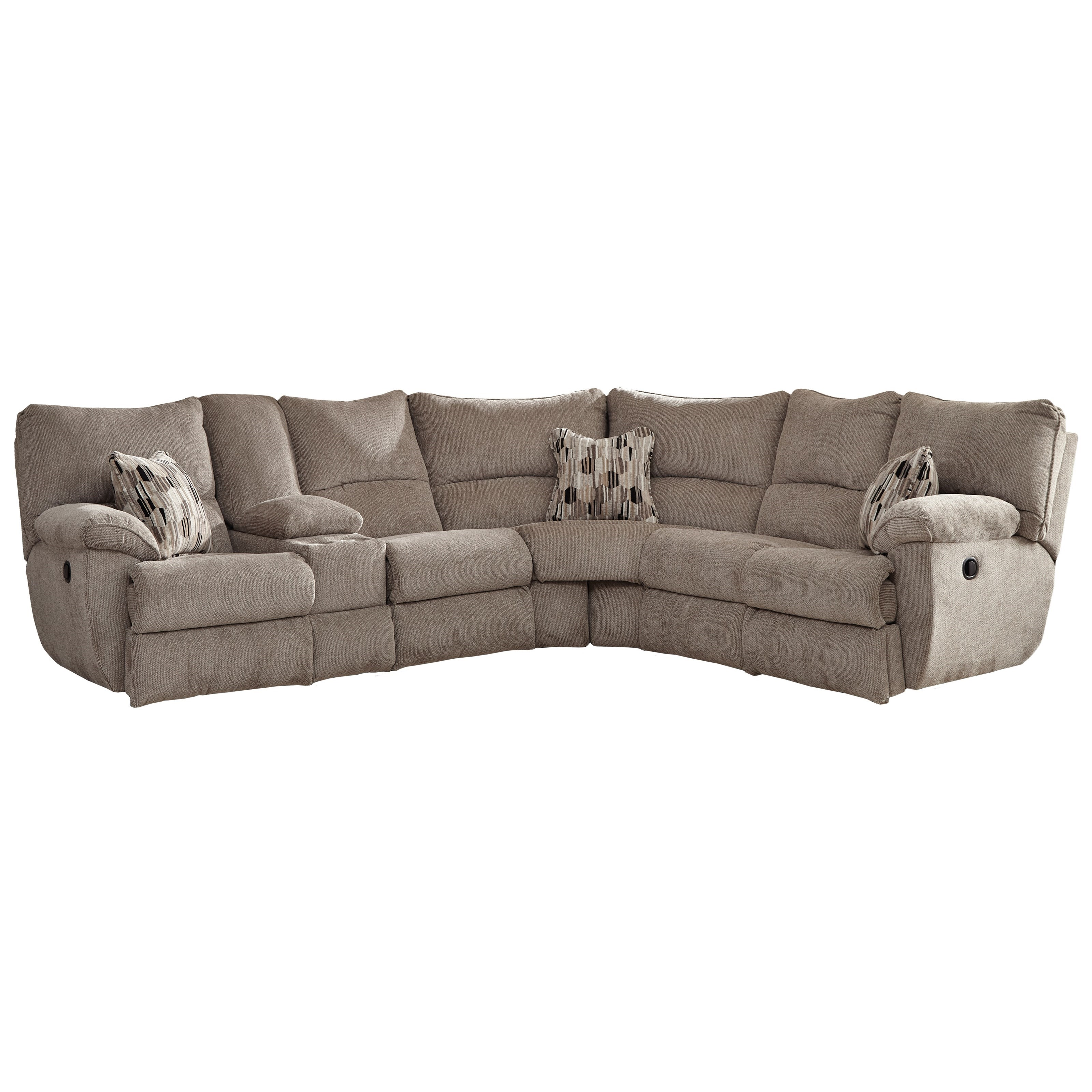 Catnapper Elliott Lay Flat Sectional Sofa With Storage Console