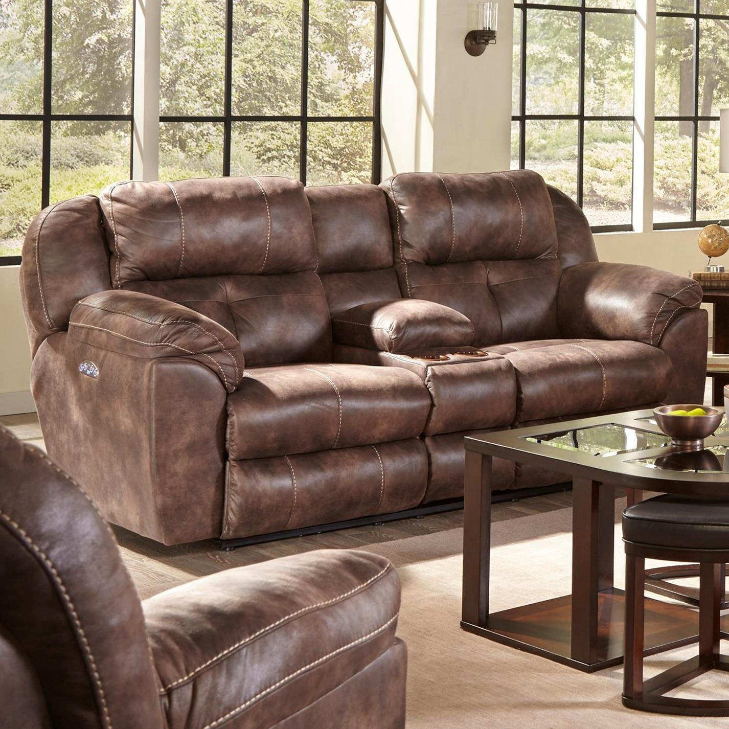 Ferrington Power Lay Flat Reclining Living Room Set Dusk: Catnapper Ferrington Power Headrest Lay Flat Reclining