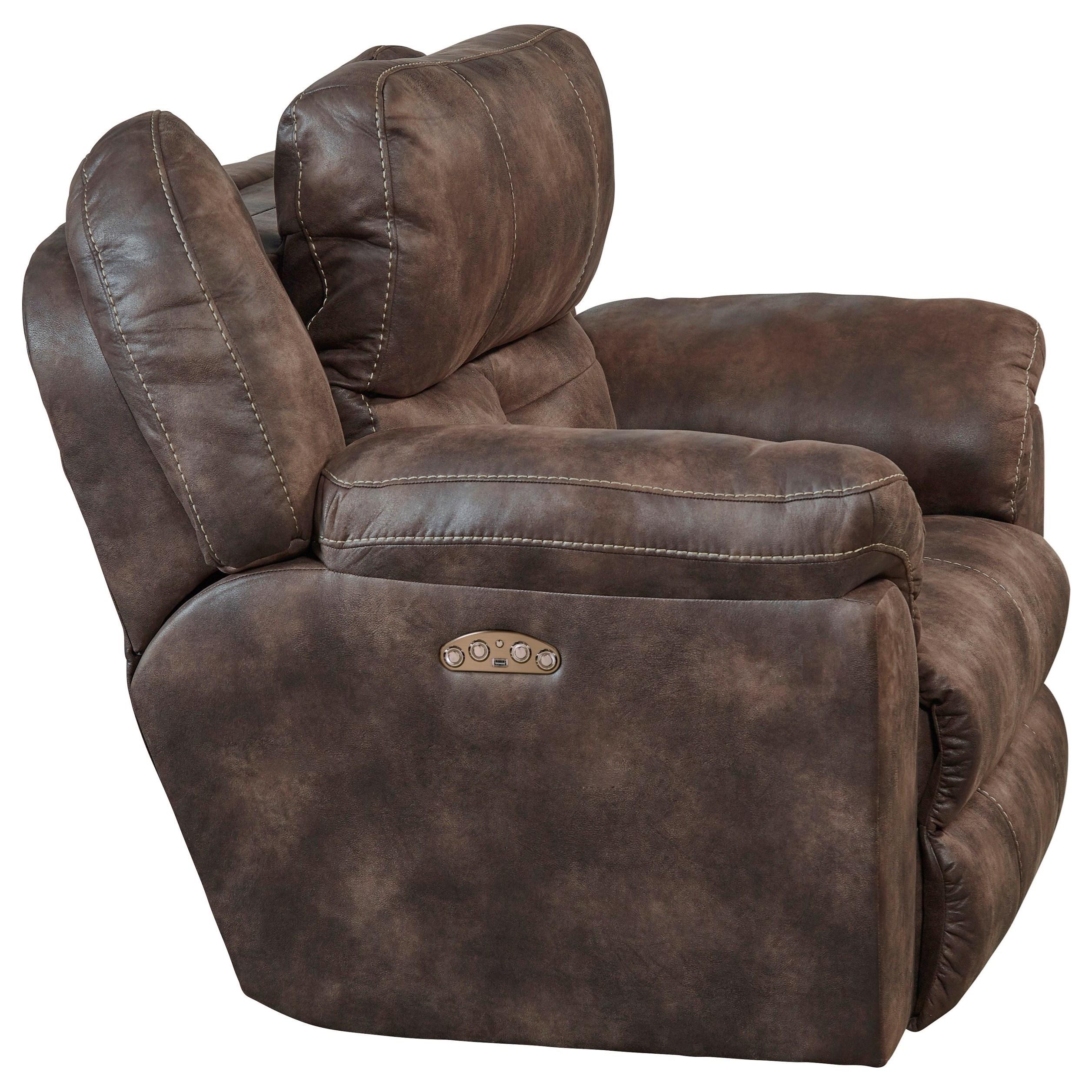 Ferrington Power Lay Flat Reclining Living Room Set Dusk: Catnapper Ferrington 61890-7 Power Headrest Lay Flat