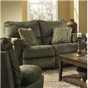 Catnapper Gavin 145 Rocking Reclining Loveseat with Casual Contemporary Style