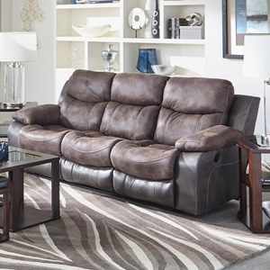 Catnapper Henderson Reclining Sofa with Drop Down Table