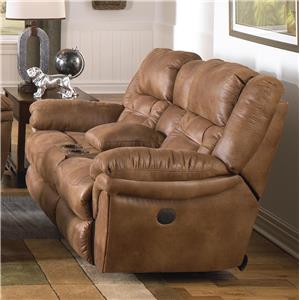 Catnapper Lucca Reclining Console Loveseat