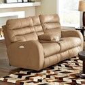 Catnapper Kelsey Power Lay Flat Reclining Console Loveseat - Item Number: 761909-1528-26