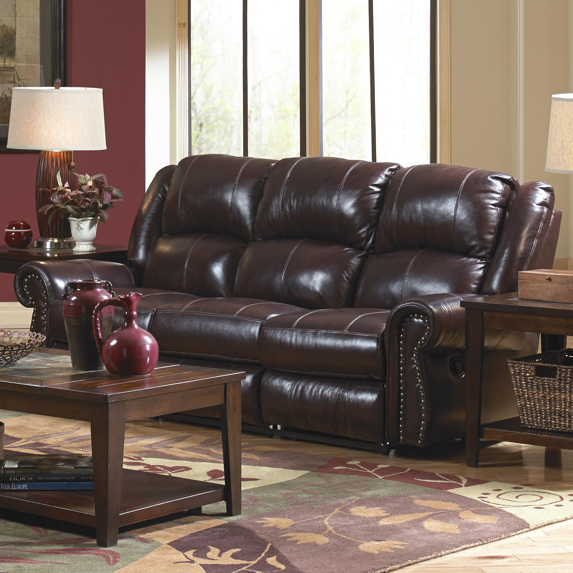 Catnapper Livingston Power Reclining Sofa with Drop Down Table and