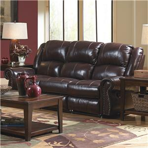 Catnapper Livingston Power Reclining Sofa with Drop Down Table