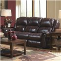 Catnapper Livingston Power Reclining Sofa with Drop Down Table - Item Number: 64505-redwood