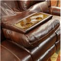 Catnapper Livingston Reclining Sofa with Drop Down Table and Nailhead Trim