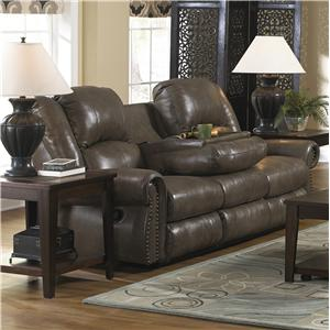 Catnapper Livingston Reclining Sofa with Drop Down Table