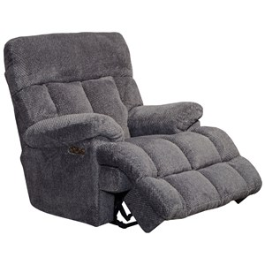 Power Headrest Lay Flat Recliner w/ Lumbar