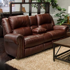 Catnapper Messina Power Reclining Lay Flat Console Loveseat