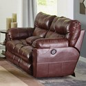 Catnapper Milan Power Lay Flat Reclining Console Loveseat w/ - Item Number: 64349-1283-19-3083-19