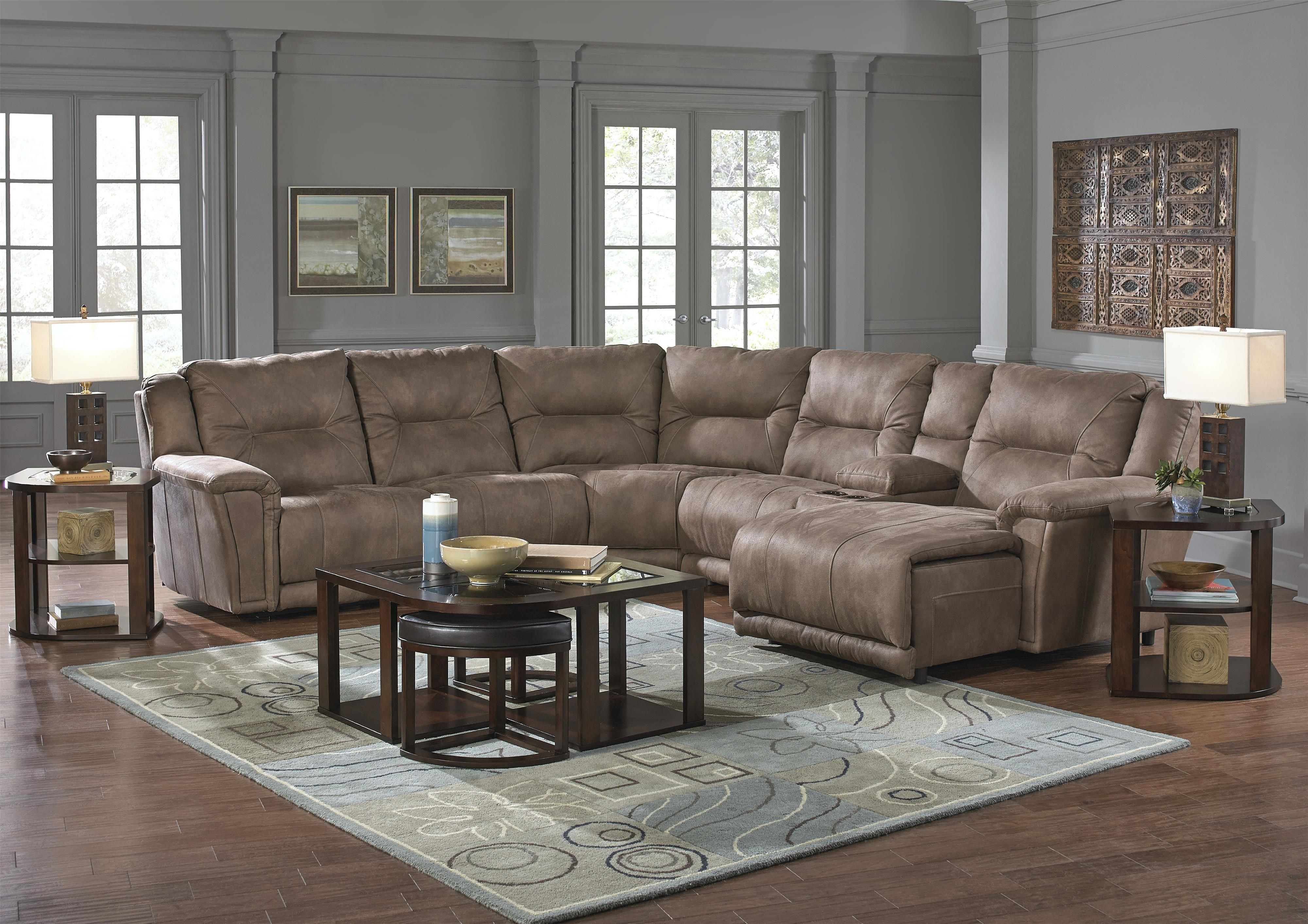 Catnapper Montgomery Reclining Sectional With 4 Seats And