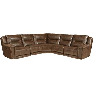 Catnapper Montgomery Reclining Sectional Sofa with 5 Seats