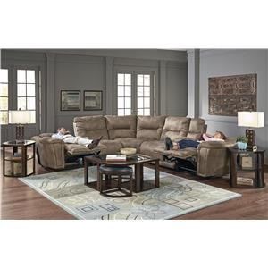 Catnapper Montgomery Reclining Sectional with 5 Seats and Console