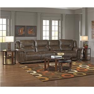 Catnapper Montgomery Reclining Sectional with 3 Seats and Console
