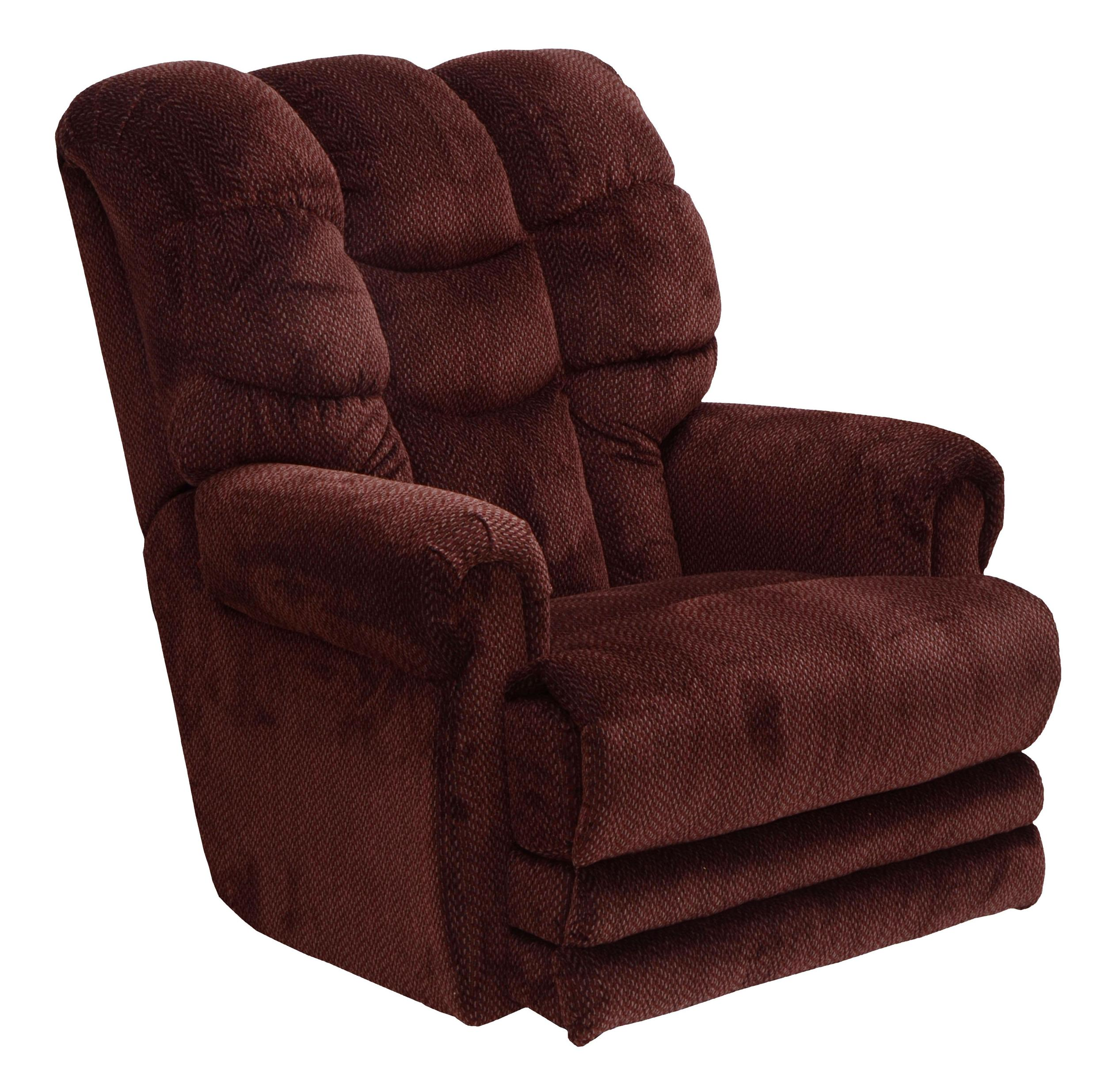 Catnapper Motion Chairs and Recliners Malone Lay Flat Recliner - Item Number: 4257-vino