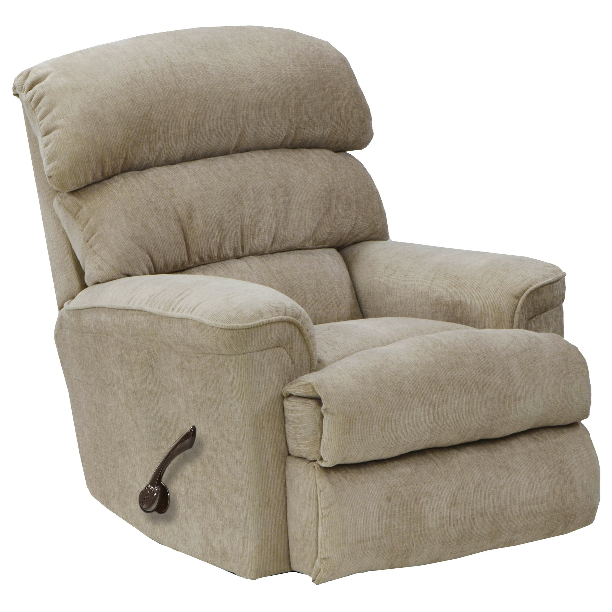 Pearson Linen Rocker Recliner with Manual