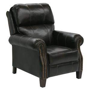 Motion Chairs and Recliners Frazier High Leg Recliner with Extended Ottoman in Traditional Den Room Style by Catnapper
