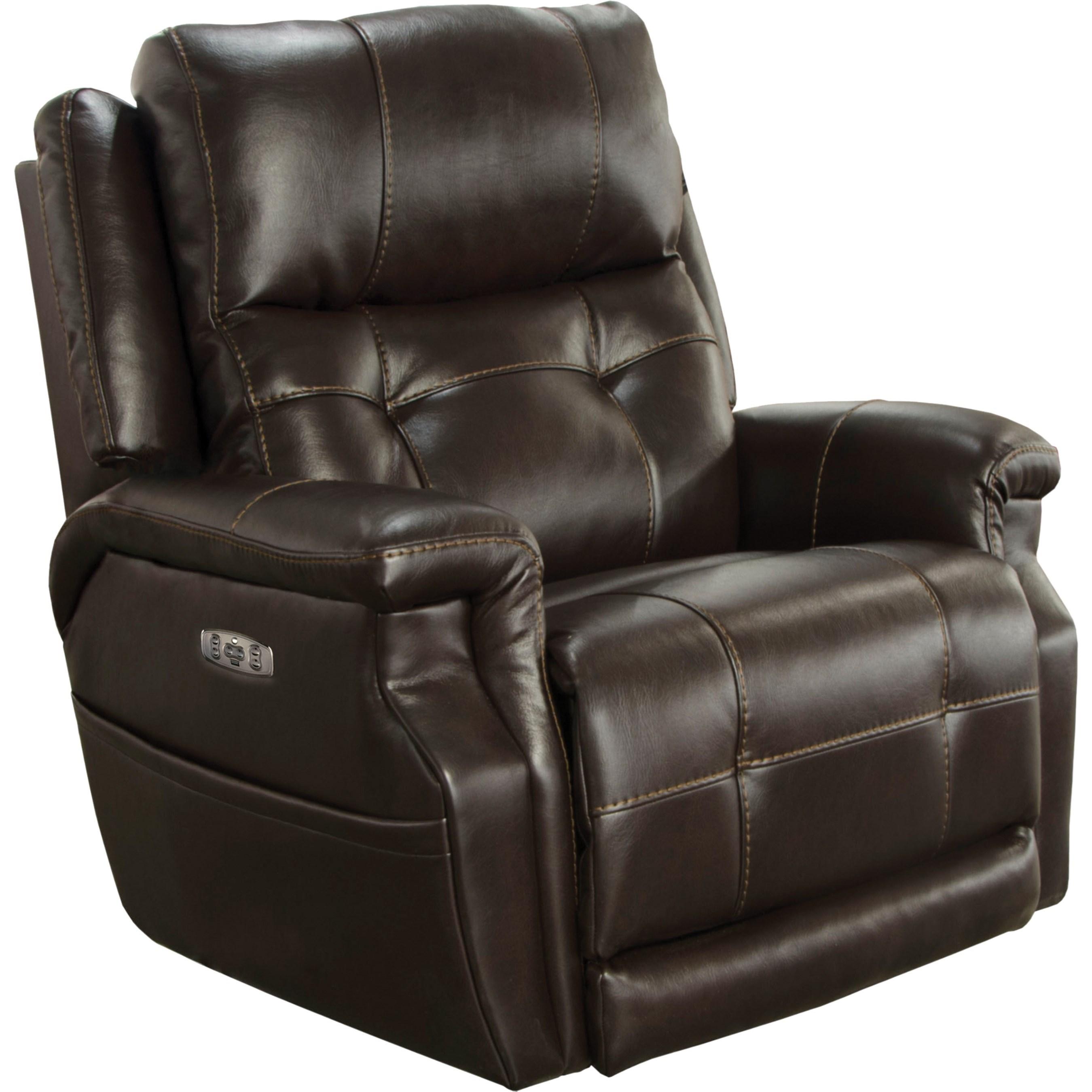 Pwr Headrest Lay Flat Recliner w/ Lumbar