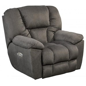 Catnapper Motion Chairs and Recliners Pwr Headrest Lay Flat Recliner w/ Lumbar