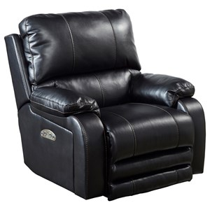 Catnapper Motion Chairs and Recliners Thornton Pwr Lay Flat Recliner w/ Pwr Head