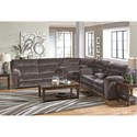 Catnapper Nichols Layflat Power Reclining Sectional - Item Number: 6167-1+8+9-2370-28