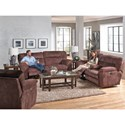 Catnapper Nichols Layflat Console Power Reclining Loveseat with Cupholders