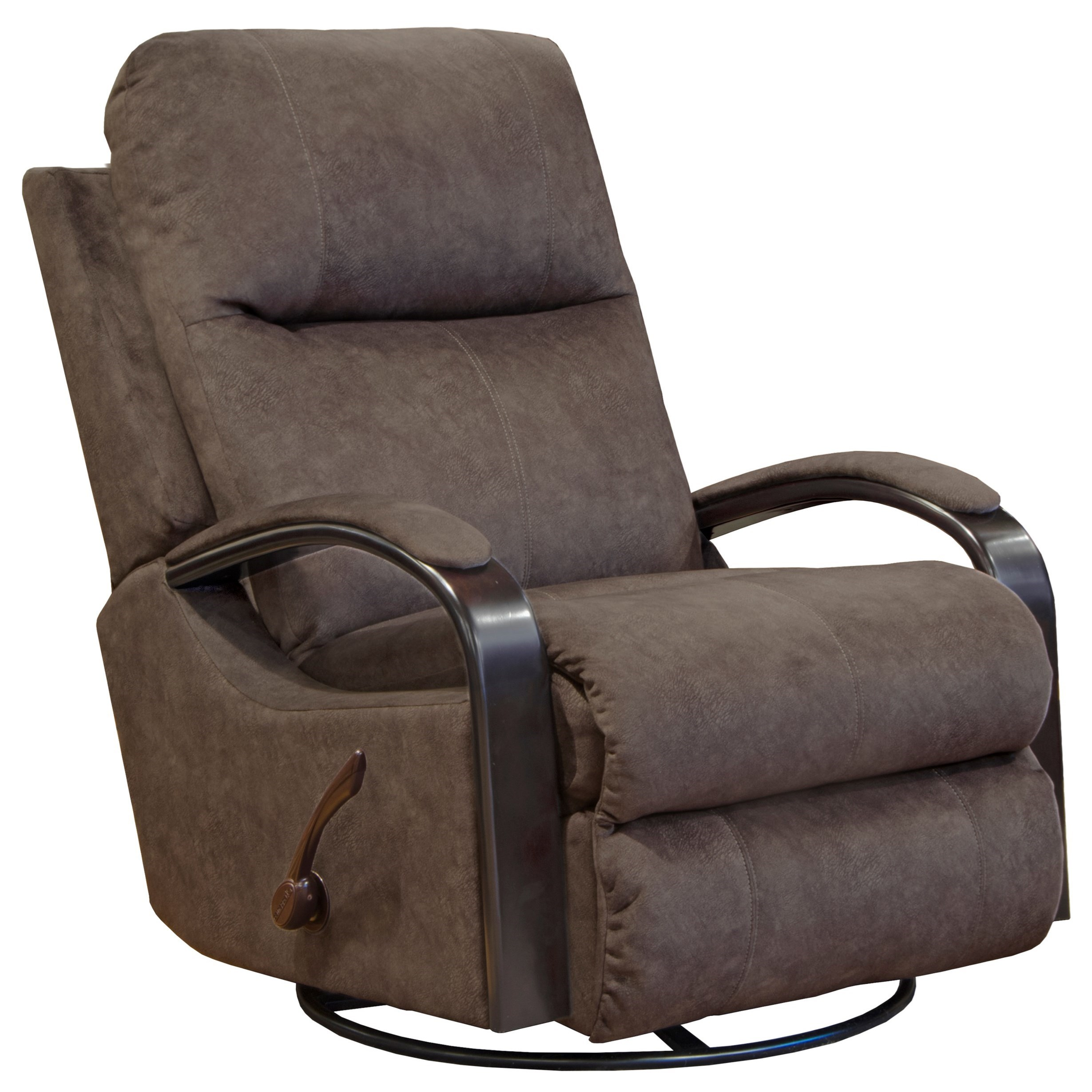 Catnapper Niles Swivel Glider Recliner With Track Arms