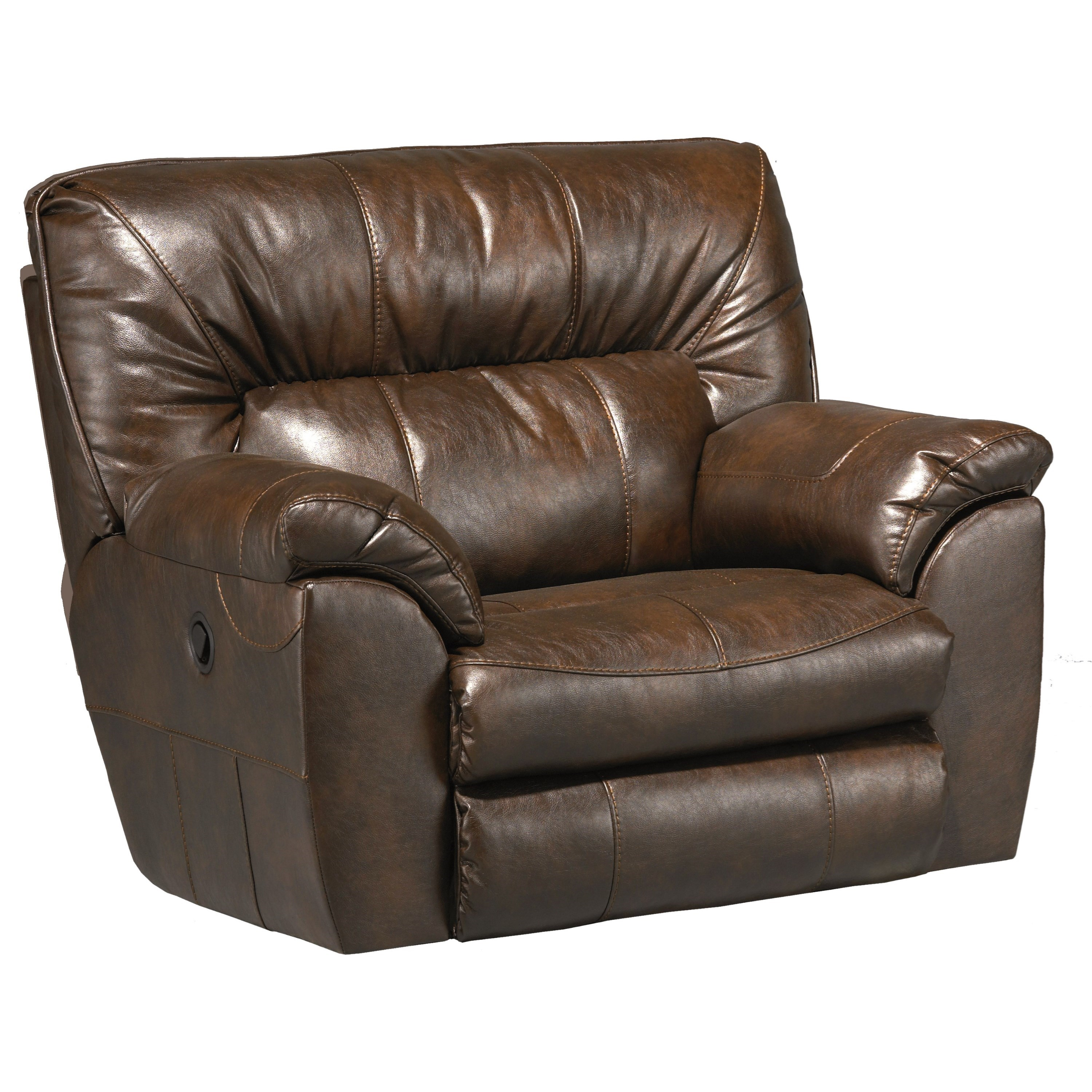 Catnapper nolan extra wide cuddler recliner with casual for Catnapper cuddler chaise rocker recliner