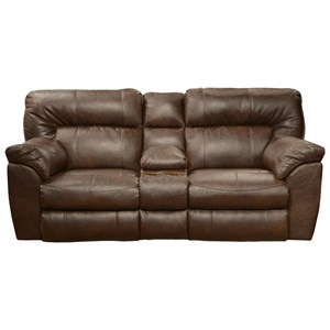 Extra Wide Reclining Console Loveseat