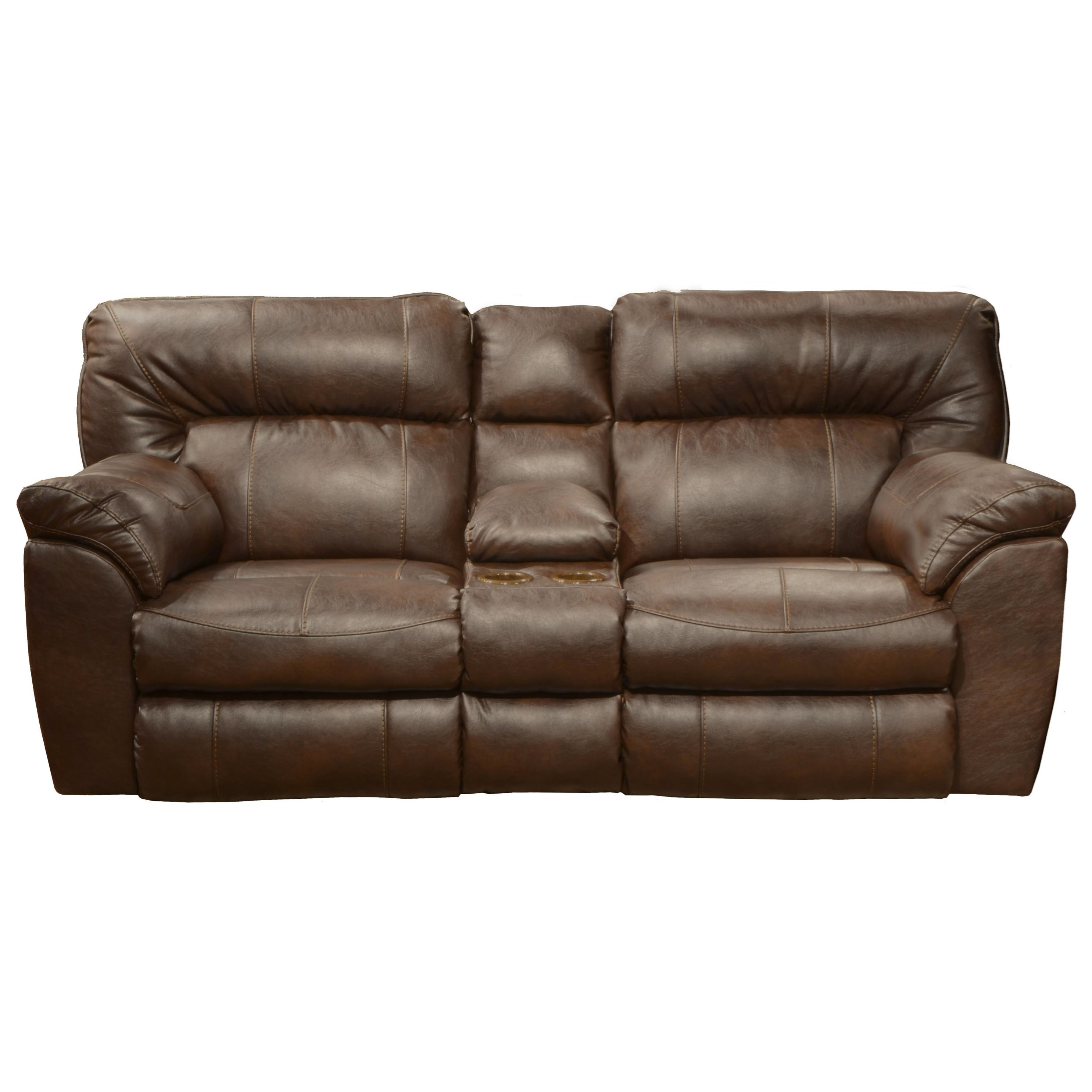 Catnapper Nolan Extra Wide Reclining Console Loveseat With