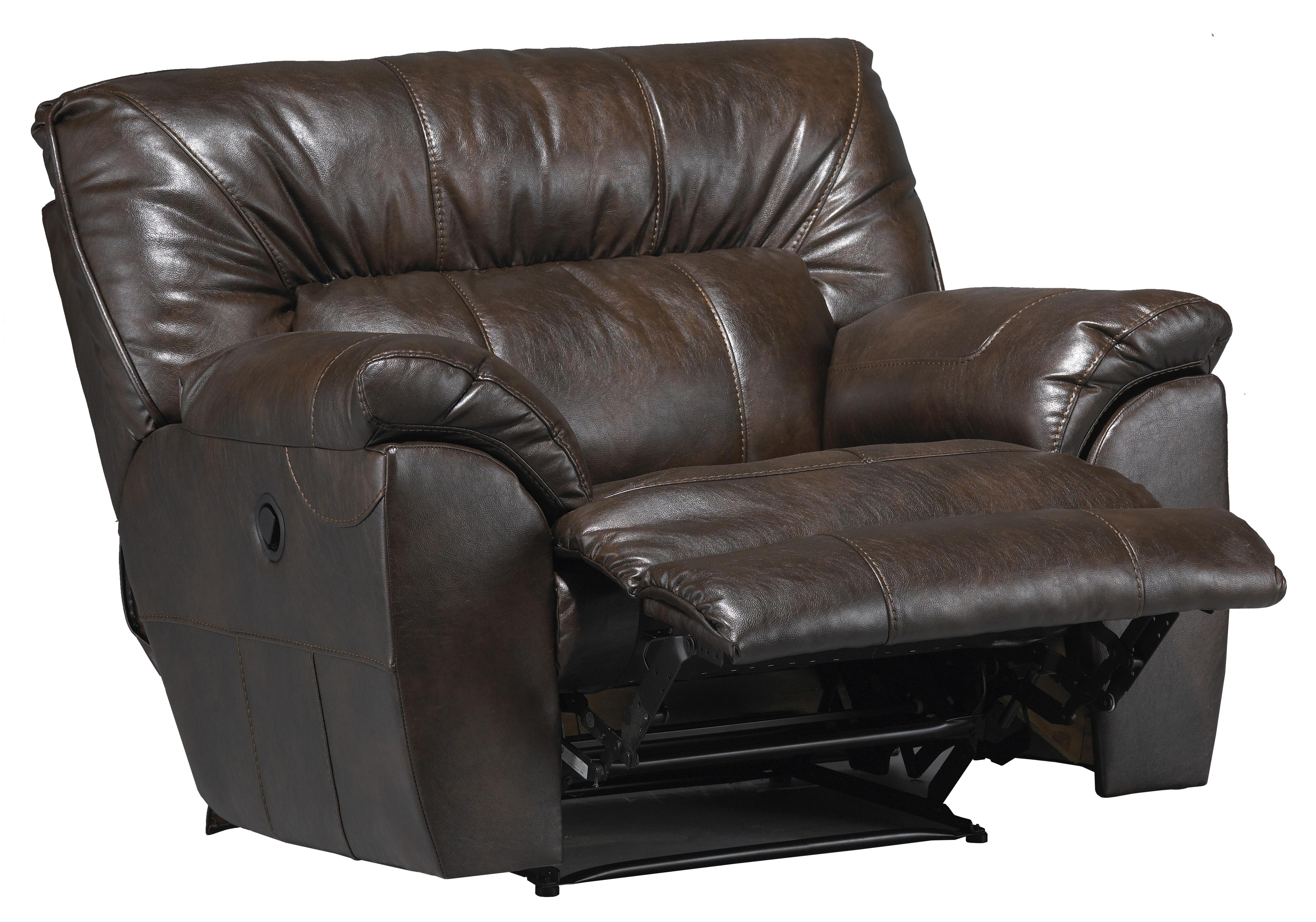 Catnapper nolan power extra wide cuddler recliner with for Catnapper cuddler chaise rocker recliner