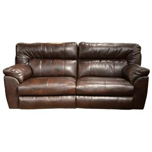 Nolan  Power Extra Wide Reclining Sofa with Casual Contemporary Style by Catnapper