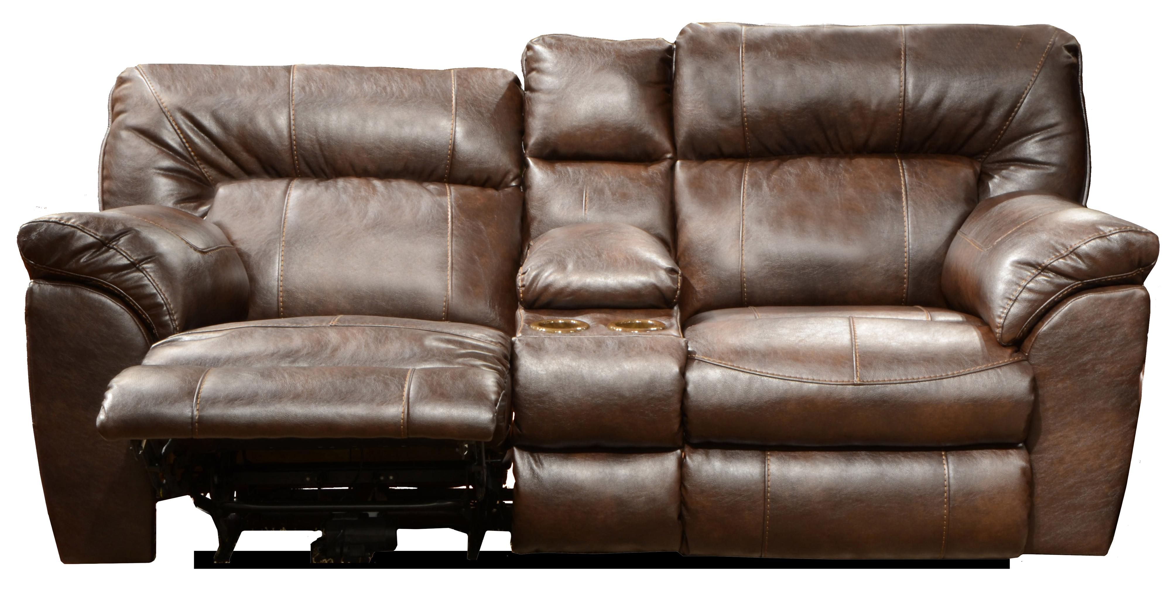 Catnapper nolan power extra wide reclining console loveseat with storage and cup holders Loveseat with cup holders