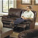 Catnapper Perez Reclining Loveseat with Pillow Topped Cushions - Loveseat Shown May Not Represent Exact Features Indicated