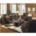 Catnapper Perez Power Reclining Sofa with Pillow Topped Cushions - Sofa Shown May Not Represent Exact Features Indicated