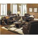 Catnapper Perez Power Reclining Loveseat with Pillow Topped Cushions - Loveseat Shown May Not Represent Exact Features Indicated