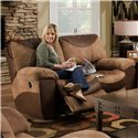 Catnapper Portman  Casual Styled Reclining Loveseat with Slight Country Charm