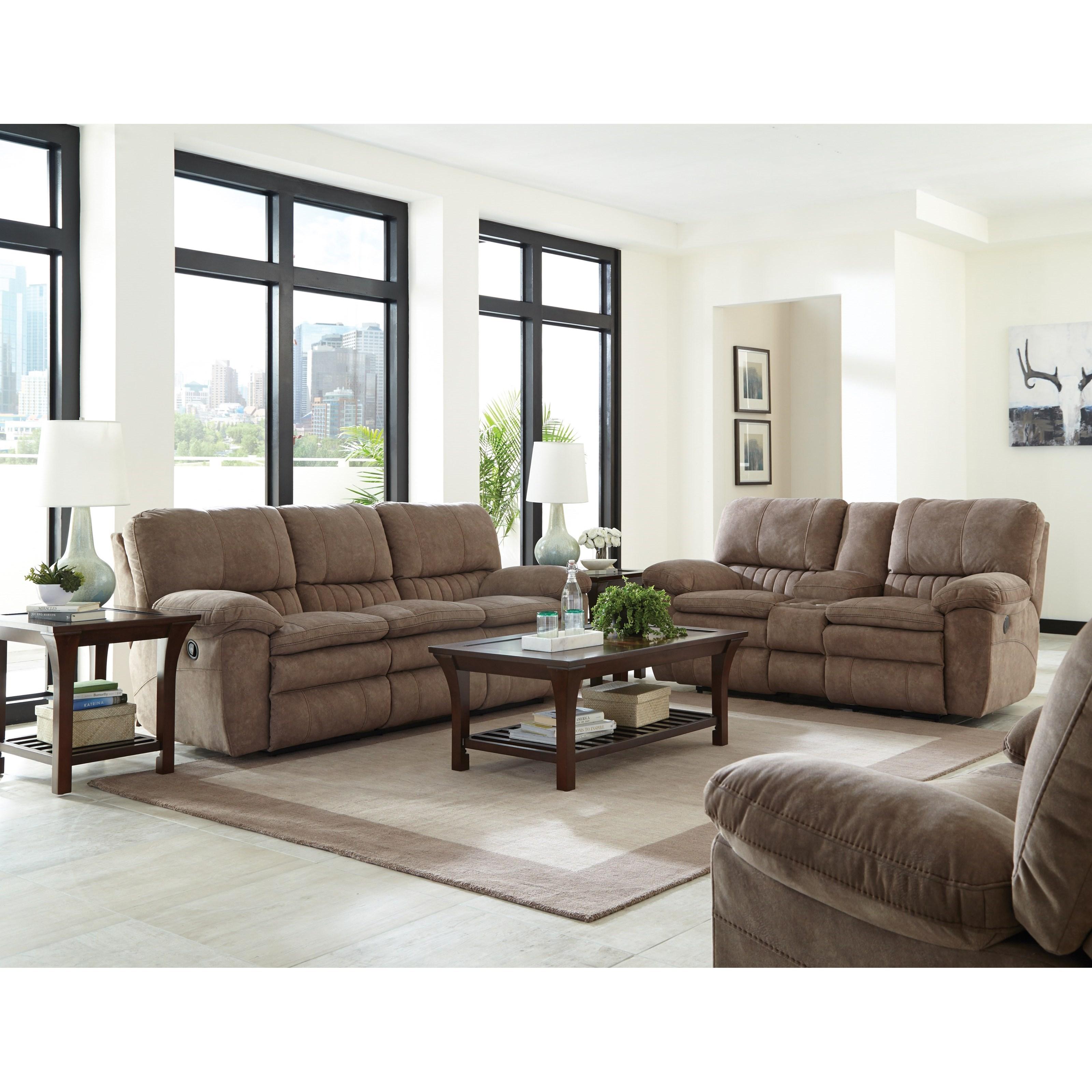 Catnapper Reyes Power Lay Flat Reclining Sofa Wayside