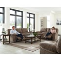 Catnapper Reyes Power Lay Flat Reclining Console Loveseat