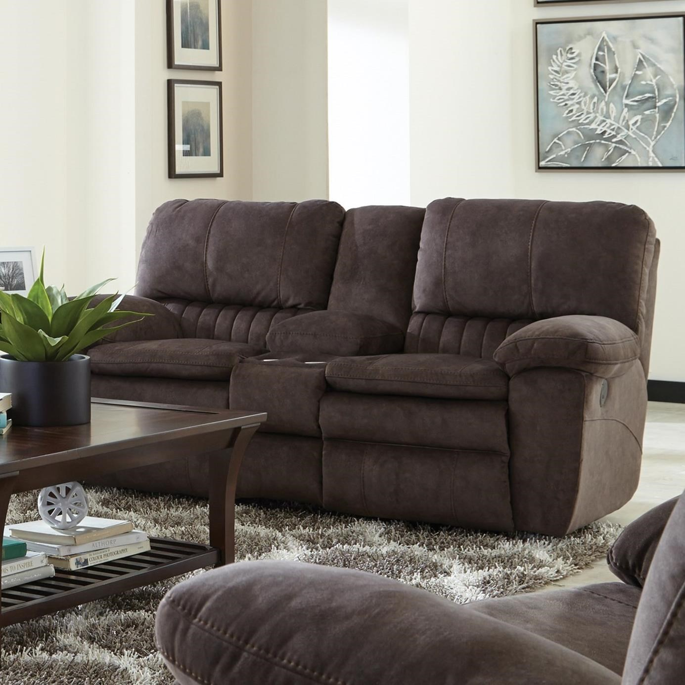 Catnapper Reyes Power Lay Flat Reclining Console Loveseat - Item Number: 62409-2792-29