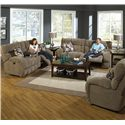 Catnapper Siesta  Power Lay Flat Reclining Sofa with Wide Seats - Sofa Shown May Not Represent Exact Features Indicated