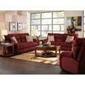 Catnapper Siesta  Lay Flat Reclining Console Loveseat with Wide Seats - 1769 Wine - Loveseat Shown May Not Represent Exact Features Indicated