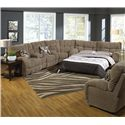 Catnapper Siesta  Reclining Sectional Sofa with Sleeper - Item Number: 1769+68+66 Porcini