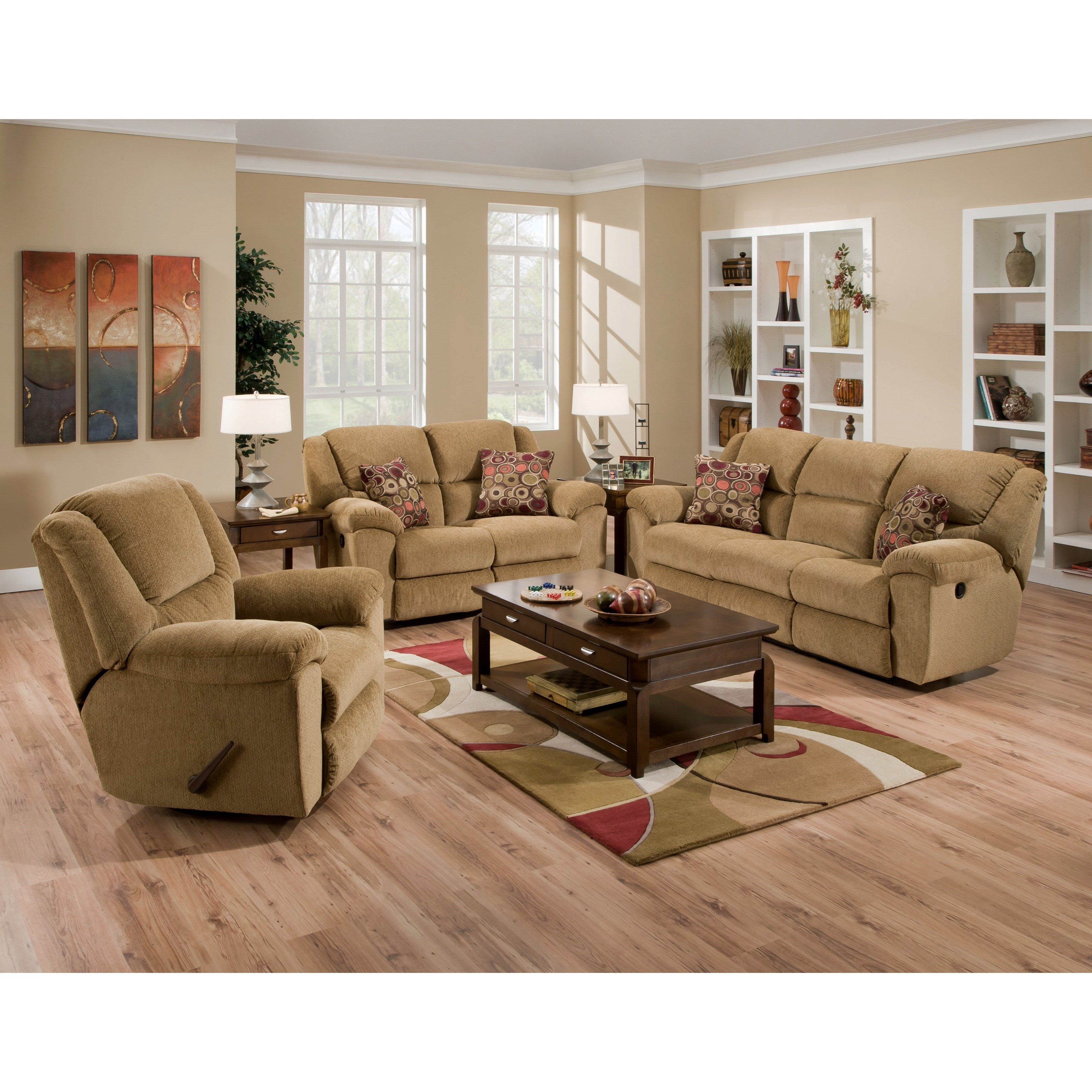 Catnapper Transformer Ultimate Sofa With 3 Recliners And