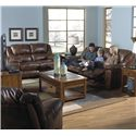 Catnapper Transformer Reclining Sofa with Drop Down Table and Cup Holders and 3 Reclining Seats - 4944-5