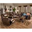 Catnapper Transformer Reclining Sofa with Drop Down Table and Cup Holders and 3 Reclining Seats
