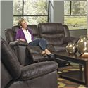Catnapper Valiant Rocking Reclining Loveseat - Item Number: 1402-2-2725-29-2724-29