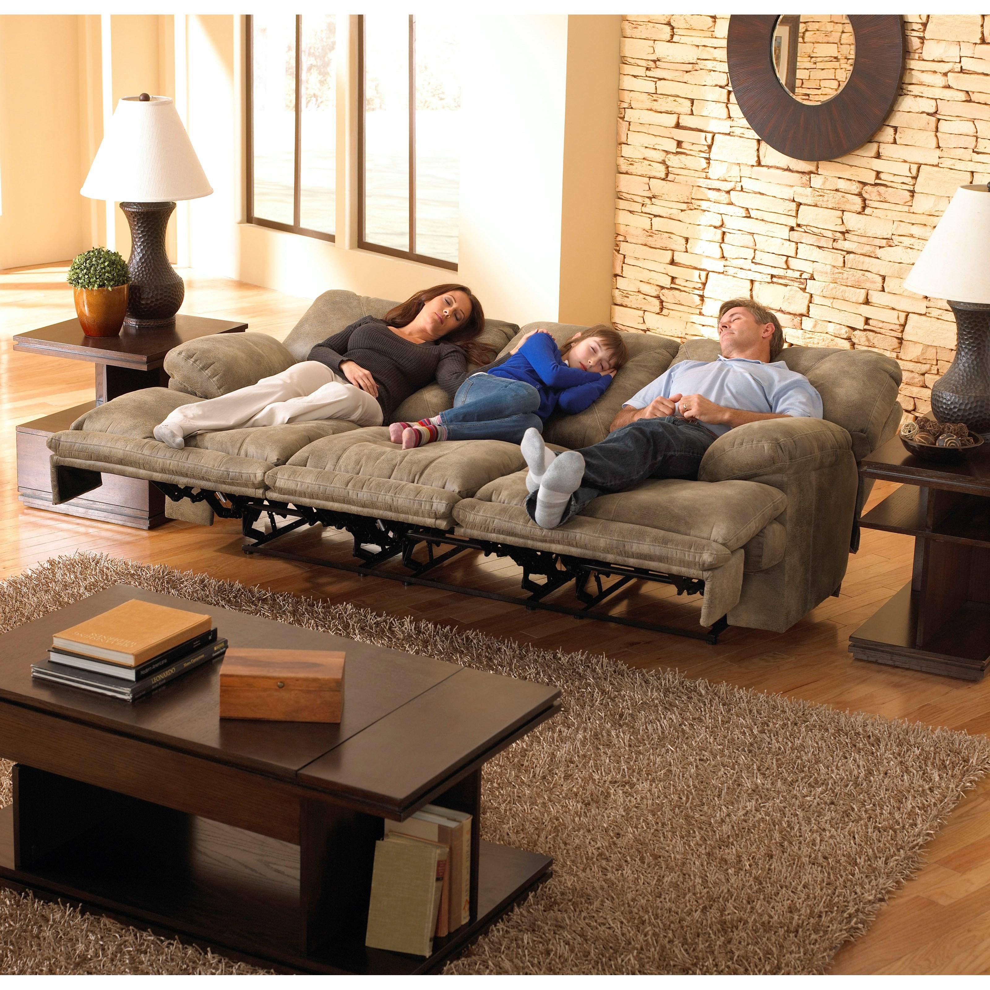 Catnapper Voyager 43845 3 Seat Quot Lay Flat Quot Reclining Sofa