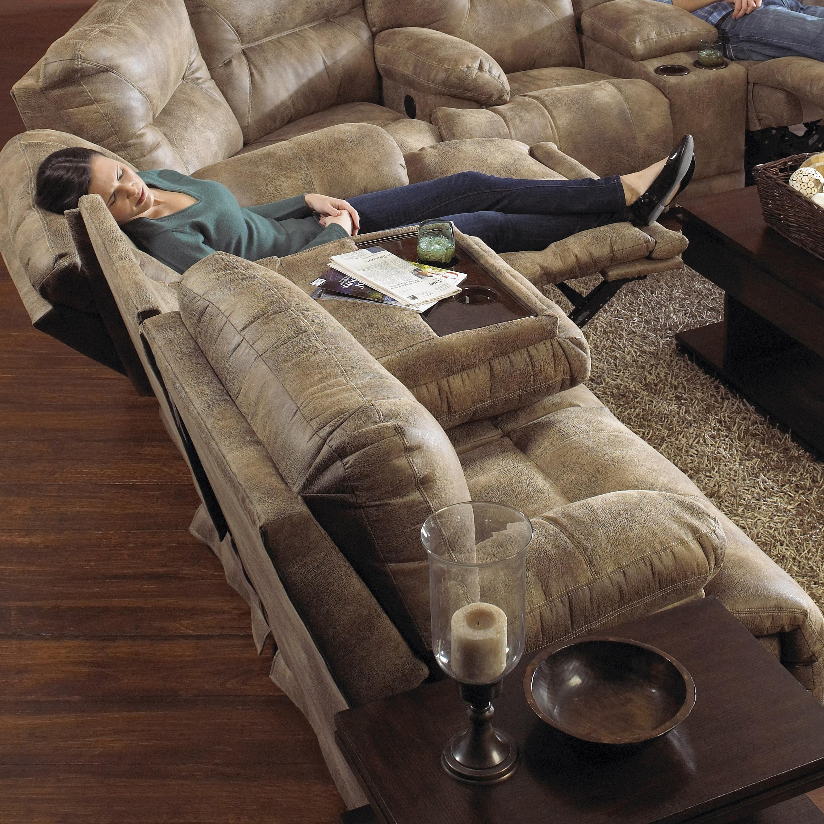 Catnapper Voyager 3 Seat Quot Lay Flat Quot Reclining Sofa With